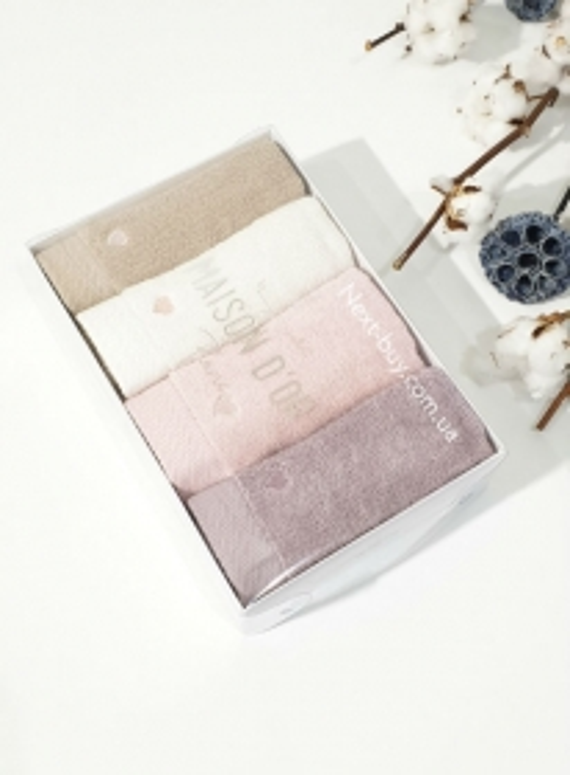 Maison D'or Micro Cotton Soft Embroidery набір бавовняних рушників 4шт
