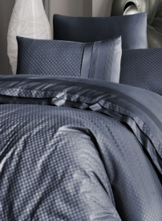 First choice Square style Denim delux сатин постельное белье евро 200х220