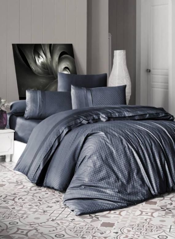 First choice Square style Denim delux сатин постельное белье полуторный 160х220
