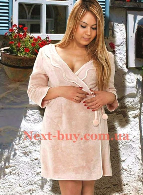 Женский халат бамбуковый Maison D'or Sandra со стразами
