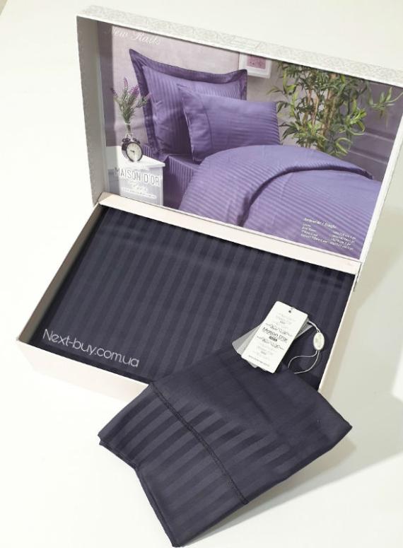 Maison D'or New Rails Black постельное белье полуторное 160x220см сатин жаккард черный