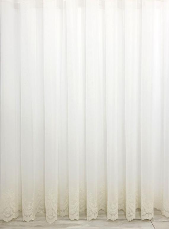 Тюль грек-сетка Bridalveil кремовый с блеском