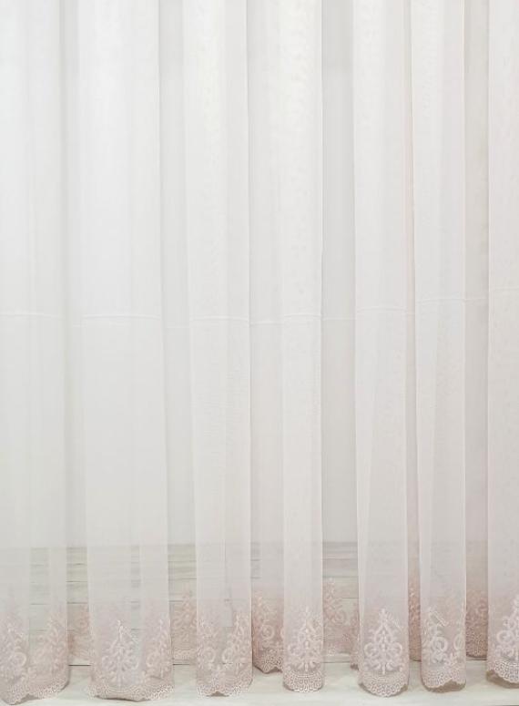 Тюль грек-сетка Low розовый