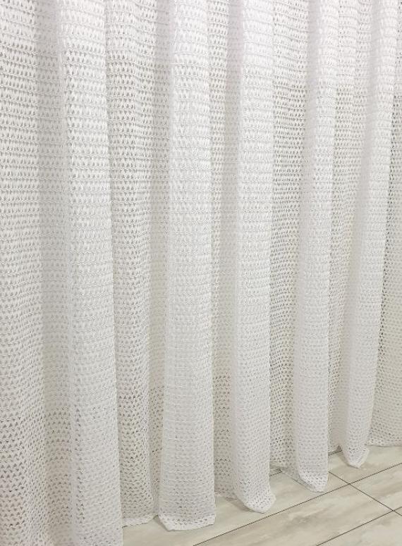 Тюль плетёнка Pletinnya белый