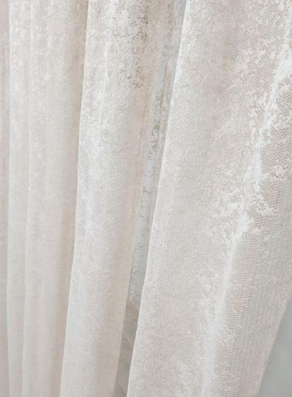 Тюль сетка с вкраплениями Velvet пудра