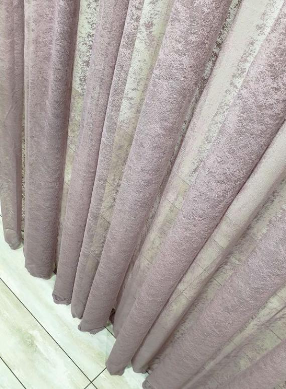 Тюль сетка с вкраплениями Velvet фиолетовый