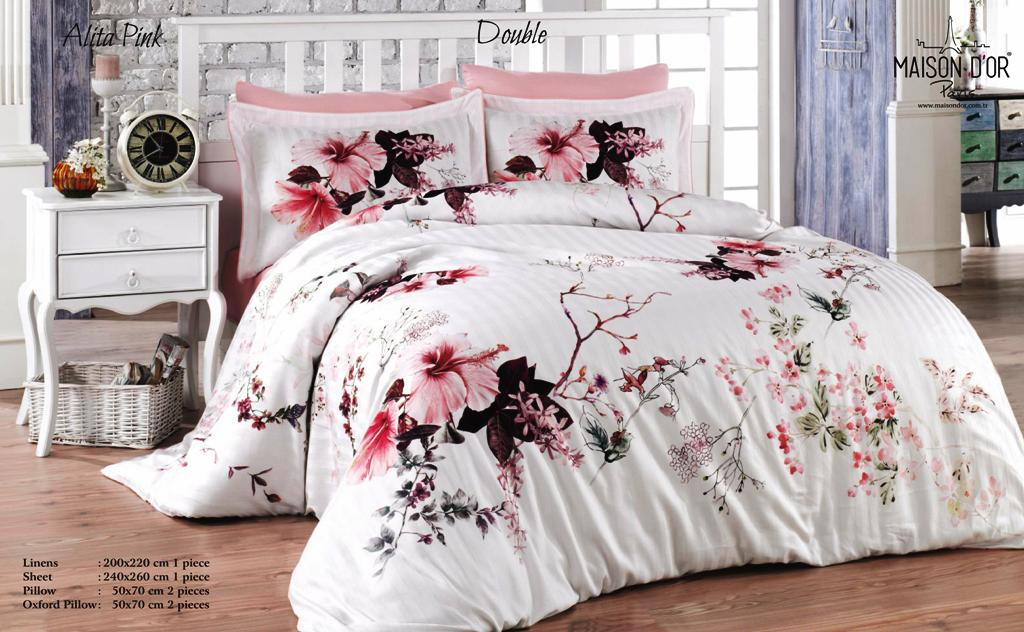 Maison D or Alita pink постільна білизна 200x220см сатин жаккард ... 28a470b0ca928