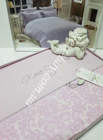 Постельное белье Maison D'or Rose Marine Pembe 200x220см сатин со стразами