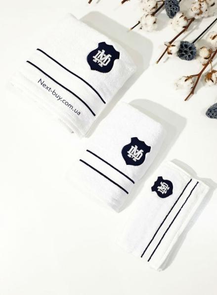 Набор хлопковых полотенец для мужчин Maison D'or Alain 3шт белый