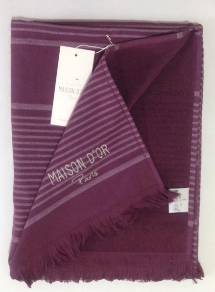 Maison D'or Bukle полотенце парео для отдыха, сауны 85х150 бордовый