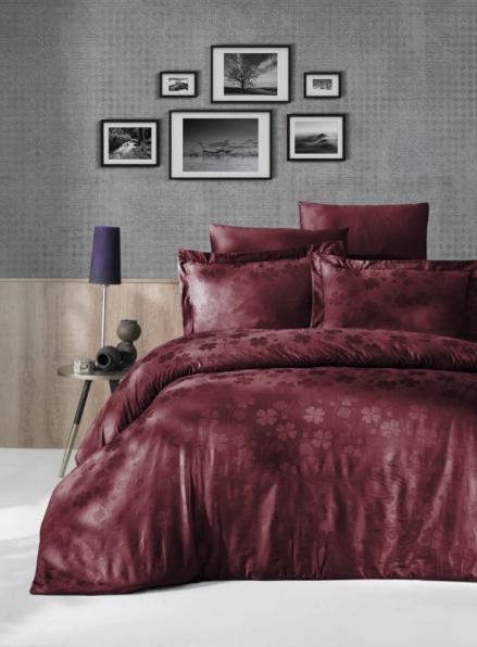 First choice Clover Bordo постельное белье сатин-жаккард евро 200х220