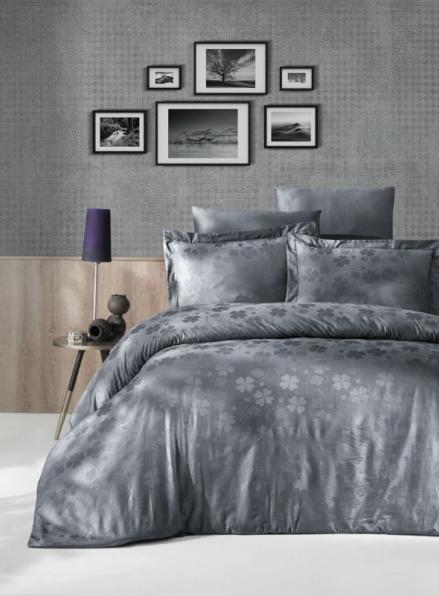 First choice Clover Gri постельное белье сатин-жаккард евро 200х220