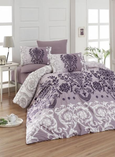 First Сhoice Dalyan mor-purple постільна білизна ранфорс полуторний 160х220