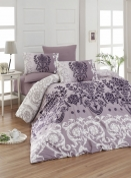 First Сhoice Dalyan mor-purple постельное белье ранфорс семейный 160х220х2