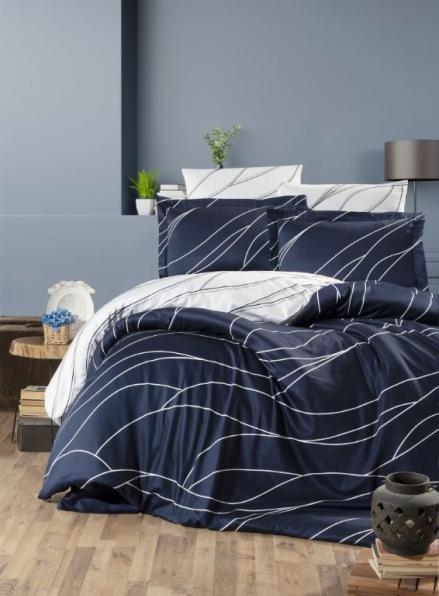 First Choice Mesi Navy blue постельное белье сатин евро 200х220