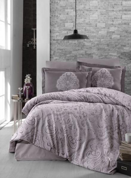 First Choice Milena Lavender постельное белье сатин семейный 160х220х2
