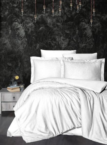 First Choice Sare White постельное белье сатин-жаккард евро 200х220