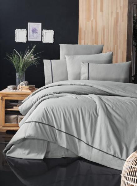 First Сhoice Alisa grey постельное белье ранфорс Deluxe евро 200х220