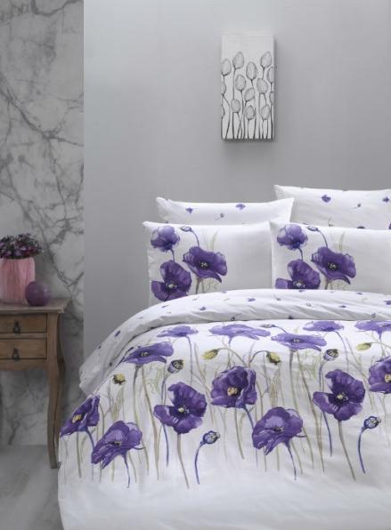 First Сhoice Bozca lila постельное белье ранфорс евро 200х220