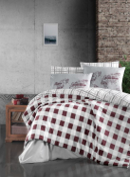 First Сhoice Edmon Dark red постельное белье ранфорс евро 200х220