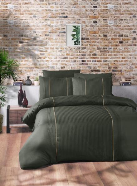 First Сhoice Elegant Dark Green постельное белье ранфорс Deluxe евро 200х220