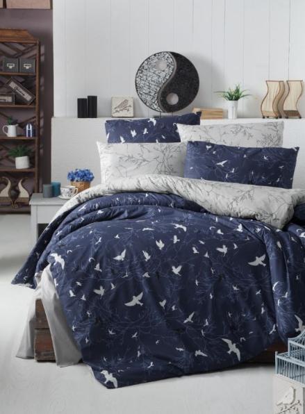 First Сhoice Freedom Navy Blue постельное белье ранфорс полуторный 160х220