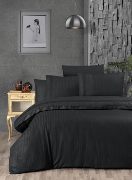 First Сhoice Gala Black постельное белье ранфорс Deluxe евро 200х220