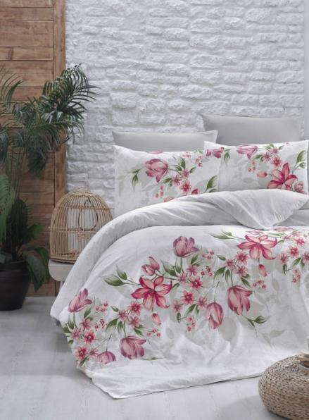 First Сhoice Riella kirmizi постельное белье ранфорс евро 200х220