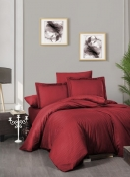 First choice Chackers red delux сатин постельное белье евро 200х220