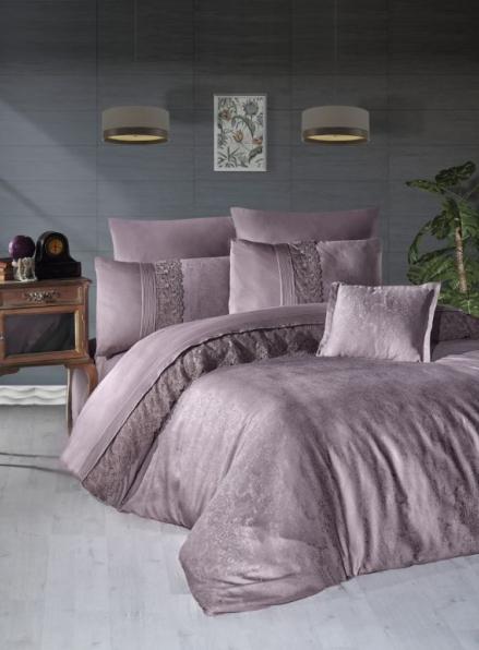 First choice Florenza lilac vip сатин постельное белье евро 200х220