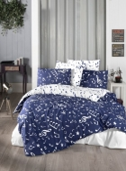 First choice Major Navy blue постельное белье ранфорс евро 200х220