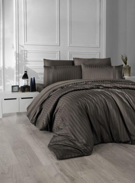 First choice New trend Brown delux сатин постельное белье евро 200х220