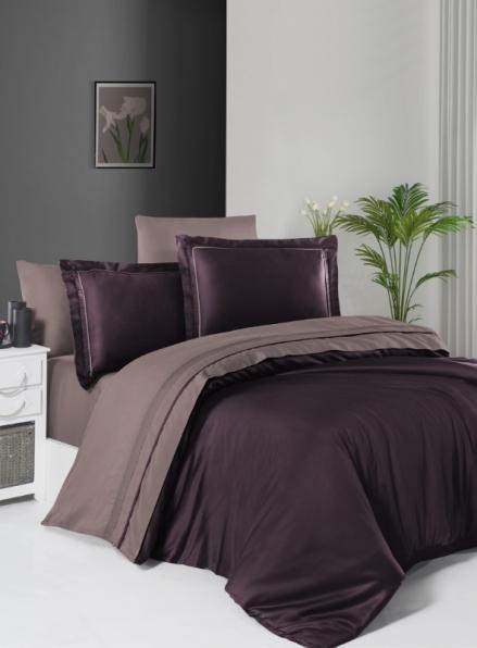 First choice Serenity Purple & Lilac delux сатин постільна білизна евро 200х220
