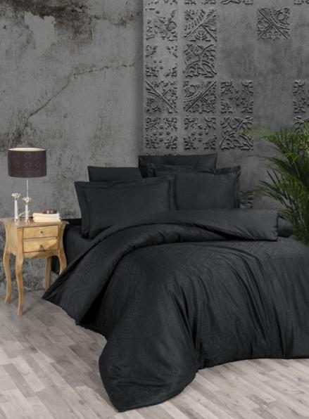 First choice Siray Black постельное белье сатин-жаккард евро 200х220