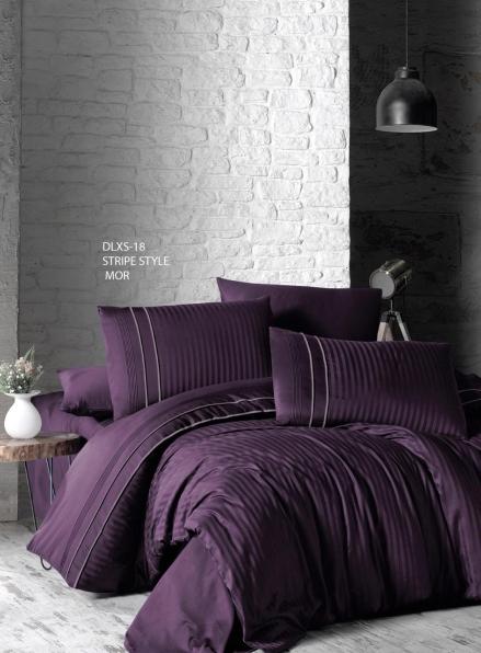First choice Stripe style mor delux сатин постельное белье семейный 160х220(2)