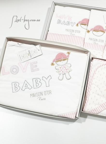Maison Dor детское постельное бельё Love Baby сатин 100х150