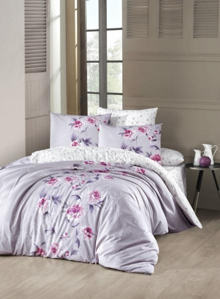 First choice Luisa Leylak-lilac постельное белье ранфорс семейный 160х220(2)