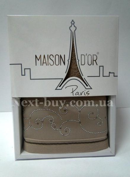 Махровое полотенце Maison D'or Dalyy 50х100см в коробке коричневый