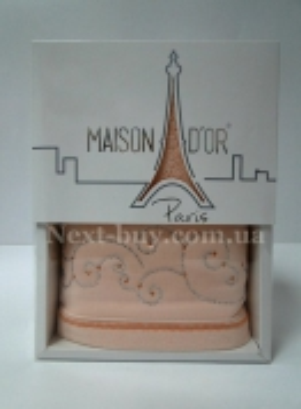 Махровое полотенце Maison D'or Dalyy 50х100см в коробке персиковый