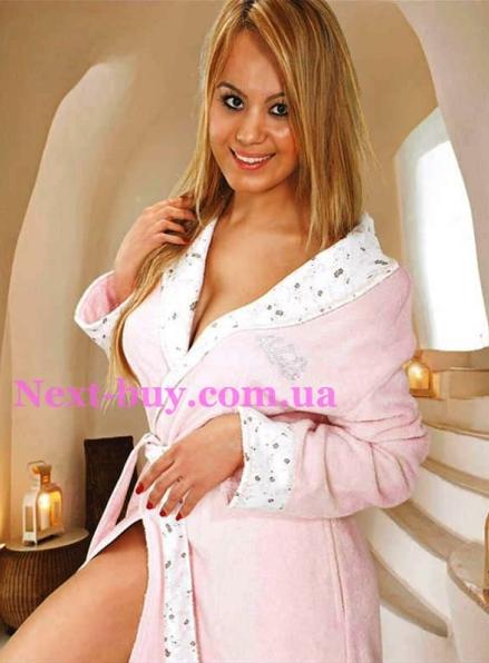 Женский халат бамбуковый Maison D'or Lady Lierra со стразами