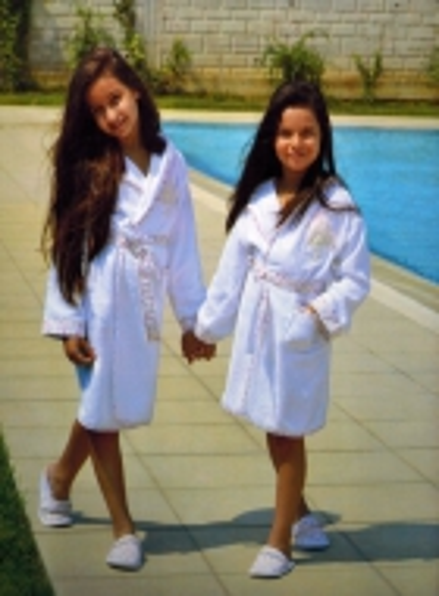 Maison D`or Alpha детский халат с тапочками для девочки