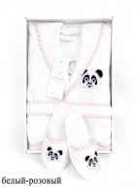 Maison D`or Luna Enfants Панда детский махровый халат с тапочками