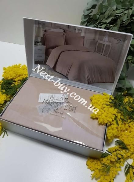 Maison D'or New Rails beige постельное белье полуторное 160x220см сатин жаккард бежевый