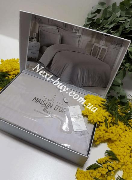 Maison D'or New Rails Double Gray постельное белье 200x220см сатин с жаккард серый
