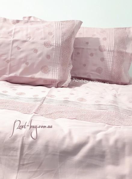 Maison D'or Roesia Estee Rose постельное белье евро 200х220 сатин с вышивкой