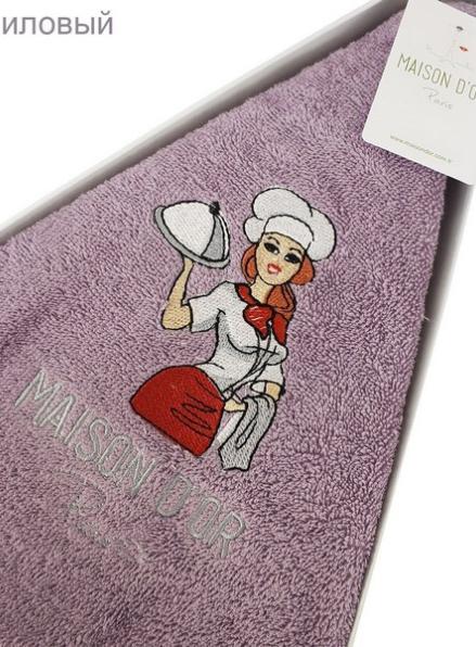 Maison D`or Maxi box круглое кухонное полотенце 1шт 70х70 хлопок фиолетовый
