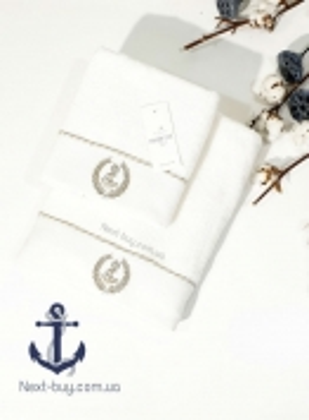 Махровий рушник Maison D'or Michel Sailing 85х150см крем