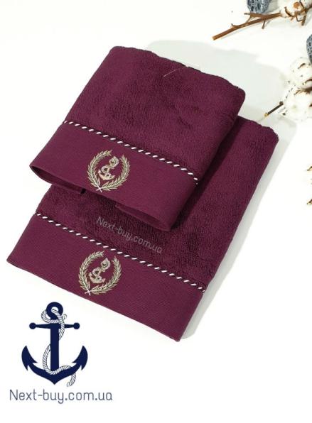 Махровое полотенце Maison D'or Michel Sailing 85х150см бордовый
