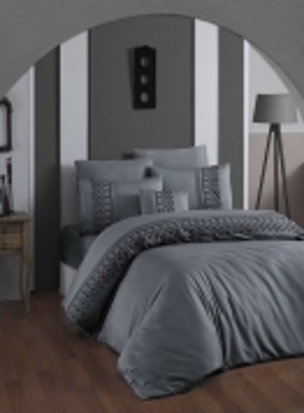 First choice Mona Gri vip сатин постельное белье евро 200х220