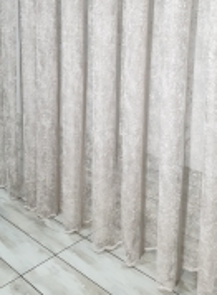 Тюль сетка с вкраплениями Velvet кофейный
